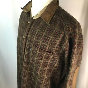 Woolrich~Wool Shirt~Elbow Patches~Plaid~